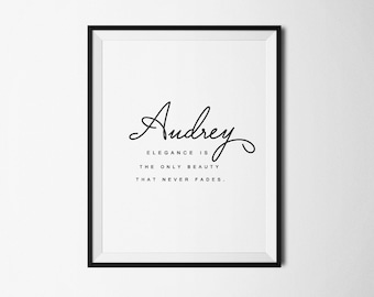 Audrey Hepburn,  Audrey Hepburn quote, Audrey Hepburn print, Printable quote, Inspirational, quote, Fashion print, Beauty quote