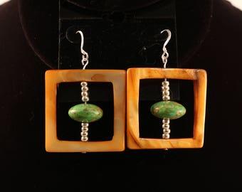 Turquoise & Shell Earrings