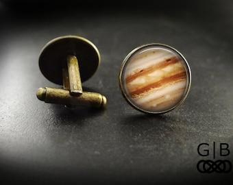 Jupiter Cuff LInks Suit Accessories Jupiter Gift - Jupiter Cufflinks Accessories - Planet Jupiter Cuff Links - Jupiter Planet Cuff Links