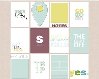 Day Trip - Project Life Journal Cards
