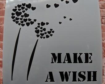Make a wish stencil/ mask by Imagine Design Create