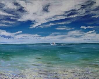 Sunny Day at Sea - Original Painting