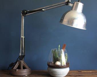 handmade lamp, antique cast iron work lamp, desk lamp, modern desk lamp, modern bedside lamp, bedside lamp, minimalist lamp, decorative lamp
