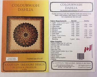 Colourwash Dahila Quilt Pattern