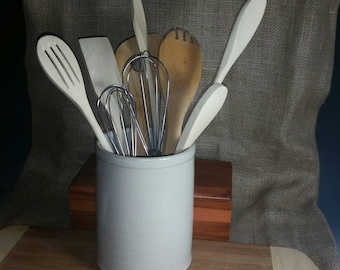 Utensil Jar Off White