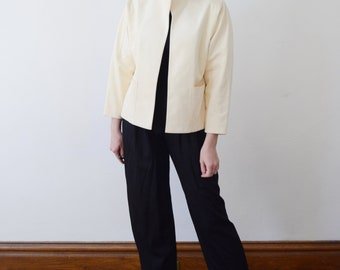 1980s Ultra Suede Cream Jacket - M