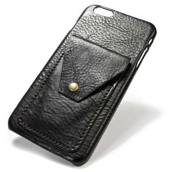 """NEW iPhone 8 and 7 Plus display 5.5"""" Italian Leather Case with 2 credit cards vertical SLOTs and a flap choose the color of BODY and ACCENT"""