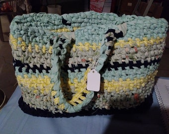 Yellow/lt blue Tote