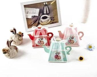 25 Teapot Favor Boxes | Birthday Bridal Shower Favors | Bulk Favors | Tea Theme | Tea Party Favors | Favor Boxes | Alice in Wonderland