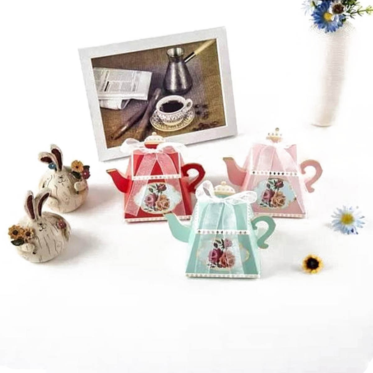 25 Teapot Favor Boxes | Birthday Bridal Shower Favors | Bulk Favors ...