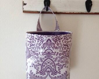 Beth's Lilac Paradise Oilcloth Car Trash Bag