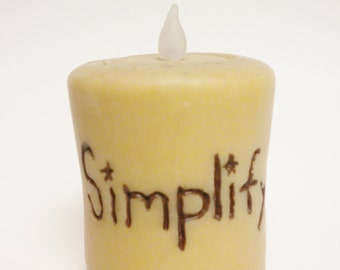 Simplify Candle, Primitive Candles, Country Farmhouse Lighting