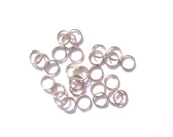 50 jumprings double 8 mm diameter nickel/lead/cadmium-free choice of color
