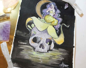 Skull Mermaid - Mermay Day Nine