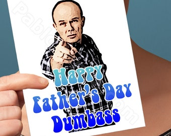 Red Forman | That 70'S Show | Fathers Day Card Fathers Keychain Steven Hyde Fathers Day Gift Fathers Day Gift From Daughter Fathers Golf Him
