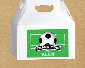 Soccer Birthday Favor Boxes, Soccer Party Favor Stickers, Personalized Soccer Party Favors, Soccer Stickers, Custom Party Favors