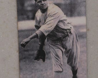 new just in babe ruth red cross tobacco card