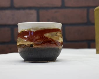 Ceramic Espresso Cup, Coffee Cup, Coffee Gift, Gift Mom, Sunset Tumbler, Ceramics and Pottery, Red Ceramic Cup, Pottery Cup, Mother's Gift
