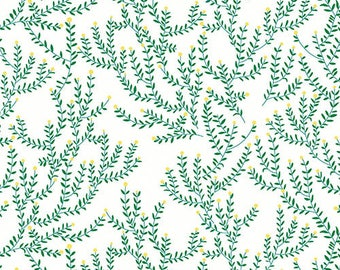 Catnap - Vines Sage Green by Lizzy House from Andover