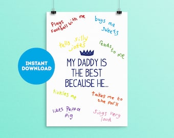 Daddy Printable Father's Day Gift