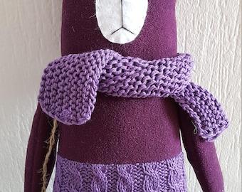 "Soft toy bear ""Violet "" Stuffed Animal & Plushies 100% Handmade 38 cm"