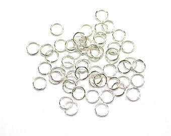 5 grams x 7mm Tarnish Resistant Silver Plated Jump Rings