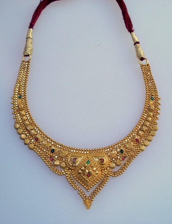 traditional design 20k gold necklace choker handmade jewelry