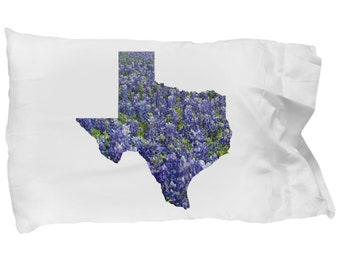 Texas Bluebonnet Pillow Case ~ Texas Proud ~ Perfect Gift For Housewarming Or Newlyweds ~ Texas Pride