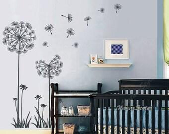 Nursery Wall Decal Vinyl Wall Decals Flower Wall Sticker Decal - Vinyl wall decals kids