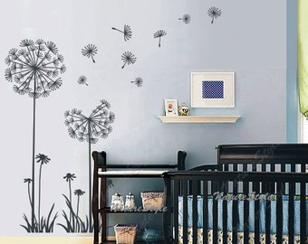 High Quality Dandelions Wall Decals Nursery Wall Decal Baby Girl Wall Decal Floral  Children Vinyl Wall Sticker Kids