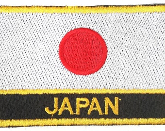 Japan Oblong Embroidered Patch