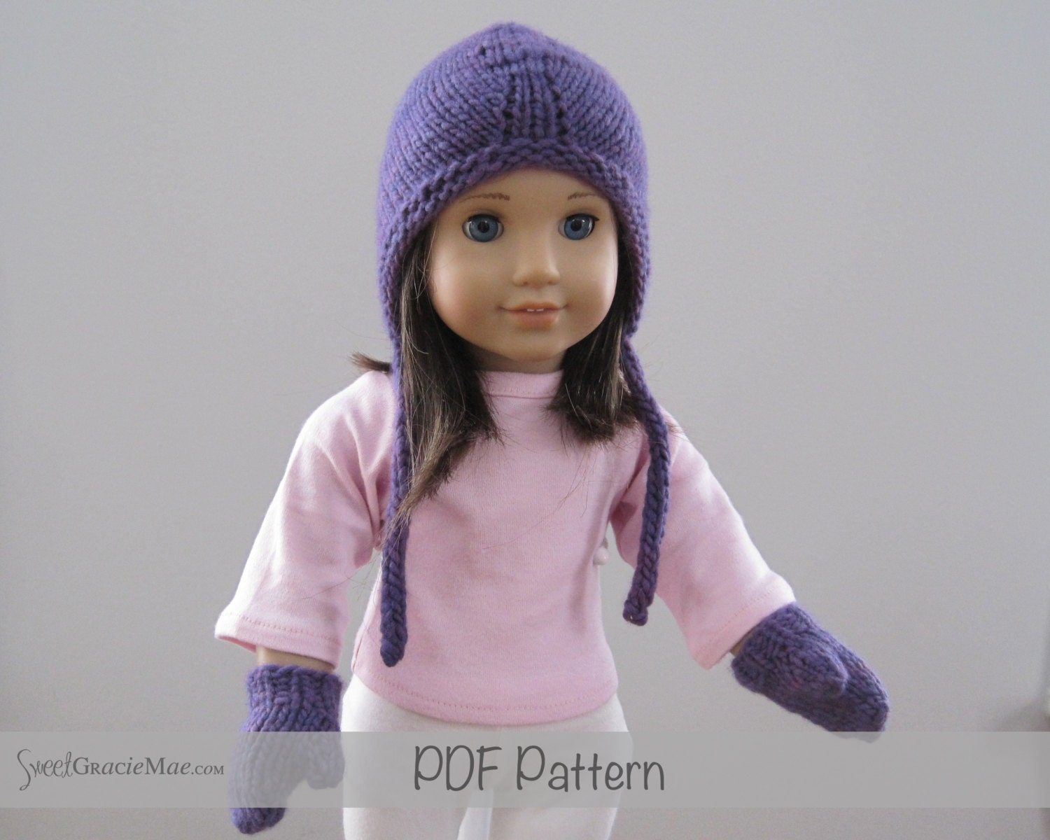American Girl Knitting Patterns - Sydney PDF - Hat pattern for ...
