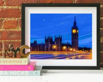 London Big Ben Art, London, London Skyline, London Art, London Poster, London Print, London Art, London Map, London Wall Art, England Art
