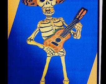 El Guitarro (Dia de los Muertos) card line