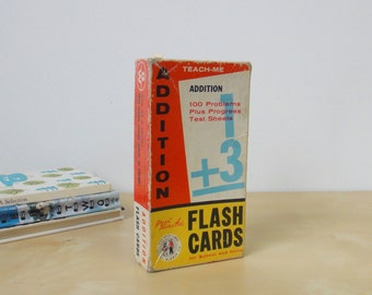 Vintage Teach Me Addition Flash Cards - Boxed Set 1962