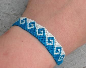 Customizable Greek Wave Friendship Bracelet