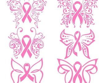 Breast Cancer Awareness Vinyl Decals for vehicle, home, office etc. (Donation made to BCRF)