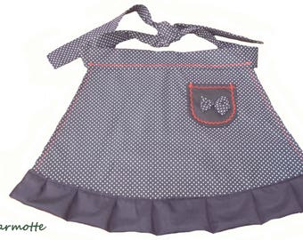 Apron retro woman small bow