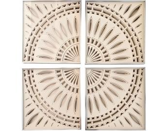 Framed 1974 Greg Copeland 3D Paper Wall Artworks - Set of 4