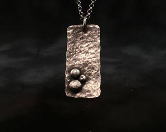 Original hammered pendant