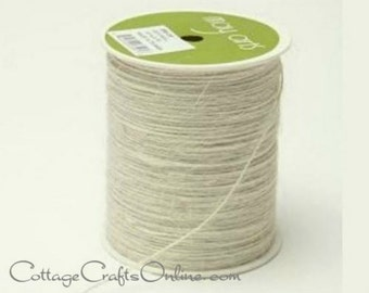 Burlap Cord String Ivory Cream  - 400 YARD ROLL - Jute Cord - May Arts #09 - Packaging / Twine / Thread / Craft Ribbon