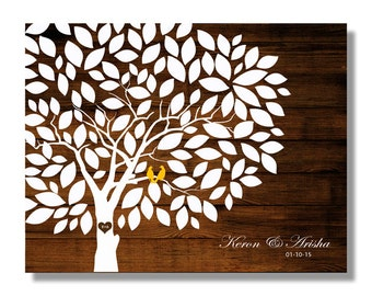 Wedding Guestbook -Wood Wedding tree Rustic Wedding Tree To Be Personalized With Guest's Signatures 17x22,20x24.20x30 160 Signature Wedding
