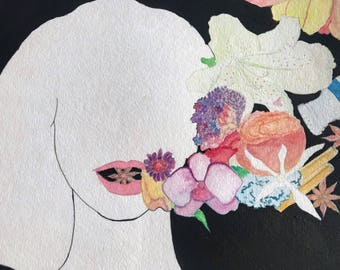 Seasoned with- watercolor print