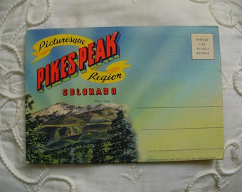 Pike's Peak Postcard Folder
