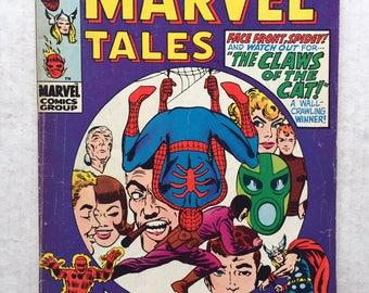 1968 SPIDERMAN Marvel Tales #23 Comic Book Steve Ditko Thor Human Torch Marvel Comics