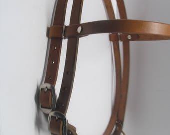 Hermann Oak Harness Leather Headstall Bridle