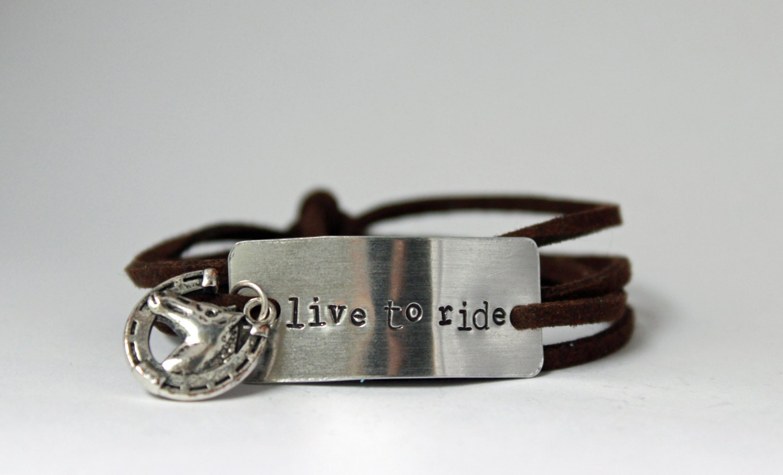 horse lover bracelet live to ride gift for horse