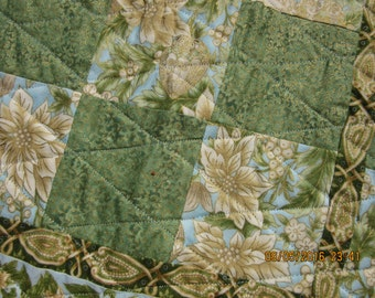 Quilted Table Topper, Quilted Table Runner, Quilted Table Spread, Quilted Table Centerpiece