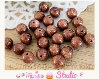 10 gold sand natural 8mm aventurine beads