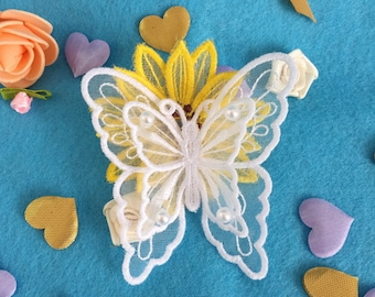 3D Organza Butterfly Machine Embroidery Designs Instant Download 4x4 hoop 10 designs APE2444